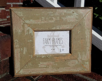 4 x 6 TAN old vintage wood picture frame