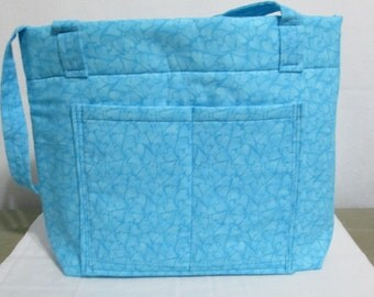 Blue Hearts handbag