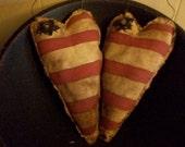 Painted Americana Hearts
