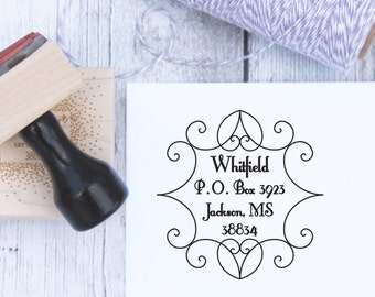 Peaks and Valleys Customized Address Stamp, Wedding Stamp, Housewarming Gift, Wooden Stamp, Self Inking, Rubber Stamp