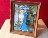 Framed Bradley Doll Photo ~ Vintage Frame & Vintage Print