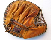 Vintage Baseball Glove, Vintage Catcher's Mill, Hutch Cincinnati Glove, 1940 Vintage Catcher's Mitt, Leather Baseball Glove, Junior Pro