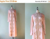 STOREWIDE SALE 1940s Blush Pink Rayon Negligee / 1940s Lingerie / Vintage 40s Rayon and Lace Nightie