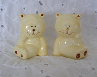 Vintage Teddy Bear Salt and Pepper Shakers ~ Pair ~ Two ~ 2