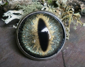 Gothic Steampunk Galaxy Eye Pin Brooch
