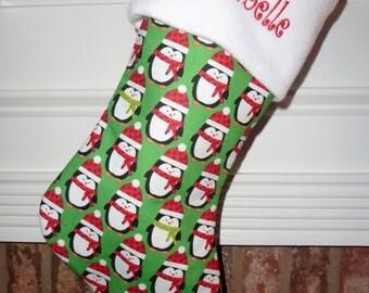 Penguin - Personalized Christmas Stocking