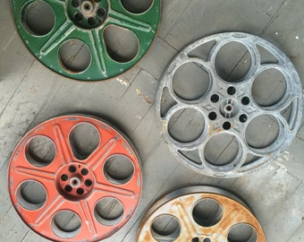 Black friday sale!! RARE   Large  Color Vintage movie theater reels