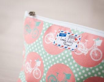 Bicycle Spot Cycling Bike Gift Cosmetic Makeup Toiletry Wash Bag