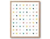 LOVE LOVE LOVE Art print, Love Sign, Watercolor Art Print, Valentine's day Gift, Wedding gifts, nursery decor, Baby Gift