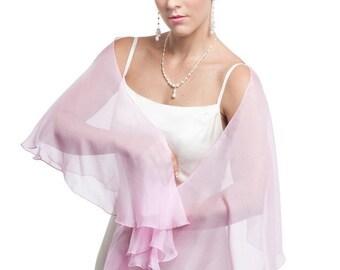 Promo Sale Sweet Pink  Silk Chiffon Fluttering Scarf - Wrap