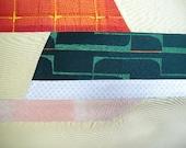 Vintage fabric S262, fabric, supplies, silk
