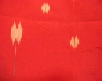 Vintage kimono S22, orange red meisen kimono, silk, awase