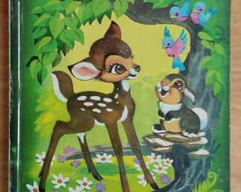 Vintage Bambi Big Golden Book Walt Disney Felix Salten