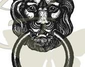Vintage Door Knocker Digital Image Illustration Printable Household Clip Art Instant Download Graphic 109