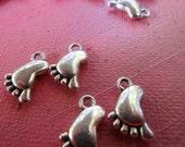 Baby Feet  6 Baby Feet Charms    Bracelets  Favors  Shower Favors    One Dollar Market