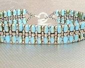 turquoise superduo bracelet