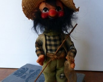 Vintage Hillbilly Rubber Face Toy