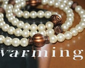 Pearls and Chocolate Necklace