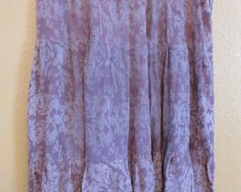 plus size skirt Mauve skirt, lightweight hippie skirt, one of a kind