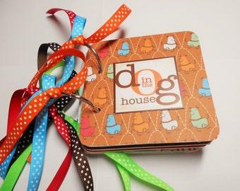 Dog Mini Album, Mini Album, Scrapbook, Memory Book, Coaster Album, Chipboard Album, Brag Book, Photo Album, Dog, Premade Album