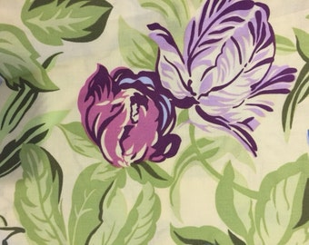 Amy Butler Temple Flowers Purple Yellow Dancing Tulips Floral fabric | Cotton Quilting fabric | Last piece
