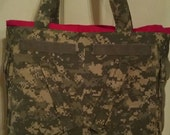 US Army ACU Extra Large Tote bag, Diaper Bag, Beach Bag, Laptop Bag