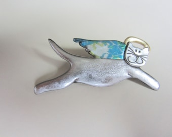 Angel Cat Pin Brooch