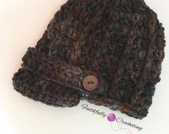 Newborn newsboy hat.. Brim hat.. Ready to ship