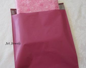 50 Pink Mailing Envelopes, Hot Pink Mailers, Shipping Envelopes Poly Mailers, Plastic Shipping Bags, Poly Bags, Self Sealing 10x13
