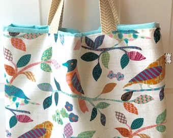 Bird tote, Spring, Summer tote, monogrammed tote, monogrammed bag, beach bag, beach tote, tote, bag, purse, personalized, shopping tote,
