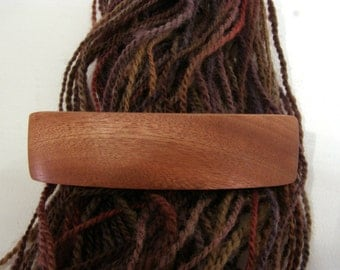 Large Hair Barrette, Mahogany, lifetime guarantee, NO GLUE, french hair clip, long thick hair, wooden hair accessory, wood jewelry