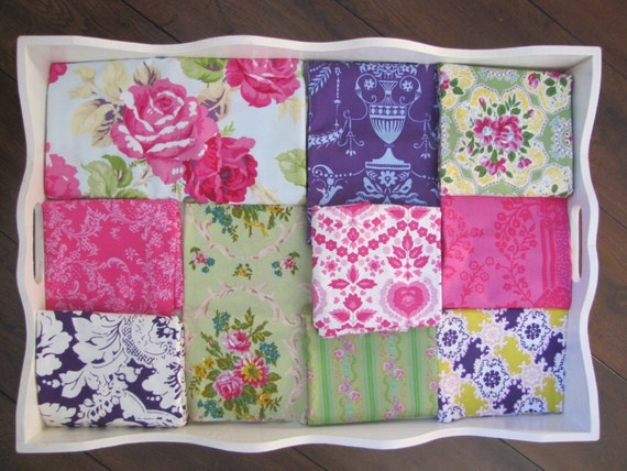 Jennifer Paganelli Purple, Pink & Green Floral Quilt Made to Order