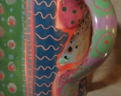 Delightful Saturated Color on hand painted fish mug