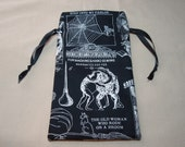 Dancing Toads Witches Familiars - Lined Drawstring Tarot Card Deck Pouch