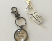 Custom Order for Jen   Map keychain and metal stamped key chain