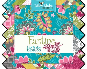 SALE Fantine (42) 5 Inch Stacker Charm Pack COMPLETE - Lila Tueller for Riley Blake Fabrics