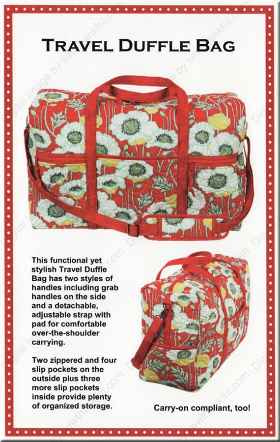 Travel Duffle Bag Pattern By Patterns By Annie