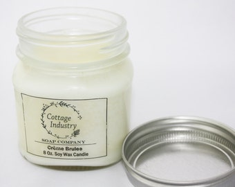 Best Soy Wax Candle - Creme Brulee - Soy Wax Candle - Eco Friendly - Soywax Candle
