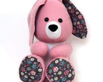 Stuffed bunny / toy bunny / rag doll bunny / stuffed toy bunny / cloth doll bunny / stuffed animal bunny / pink bunny / plush toy