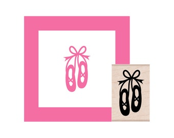 Ballet Slippers Rubber Stamp