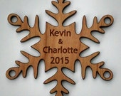 New 2015 and 2016 First Christmas Together Snowflake Ornament Personalized - Free Shipping USA
