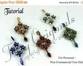 Save 5 Dollars KR018 TUTORIAL - Lillian Pendant - It's Reversible! Beadweaving Pattern Instructions