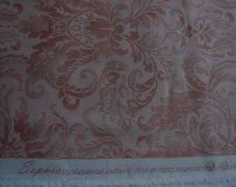 Sophia by Maywood Studios, Pink Brocade Cotton