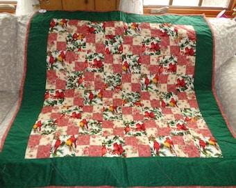 Green border Cardinal Table cloth