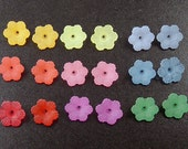 Lucite Beads Bell Daisy 50 Flower 6-Petal Frosted CHOICE 12mm x 4.5mm (1026luc12m1)