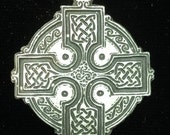 Large Trimmed Celtic Knot Work Cross in an Engraved Raised Design.