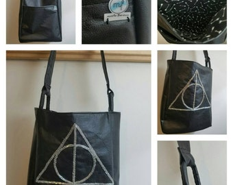 Harry Potter Deathly Hallows Faux Leather Tote