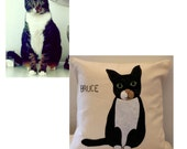 Custom Cat Pillow, Cat Pillow, Cats Pillow, Custom Pet Pillow, Pet Pillow, Pet Portrait, Pet Pillows, Cat Gifts