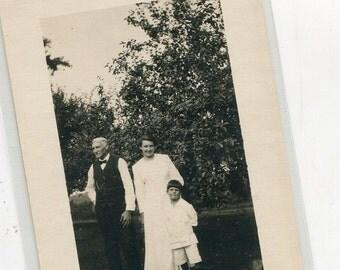 Real Photo Vintage Family Photo vintage postcard, RPPC, 3 generations antique postcard vintage postcard, SharonFosterVintage