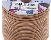 2 Meters (6.56 Feet Approx.) Genuine Leather Cord - Round - Natural 1.5mm (2992102)